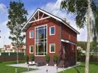Проект компактного двухэтажного дома